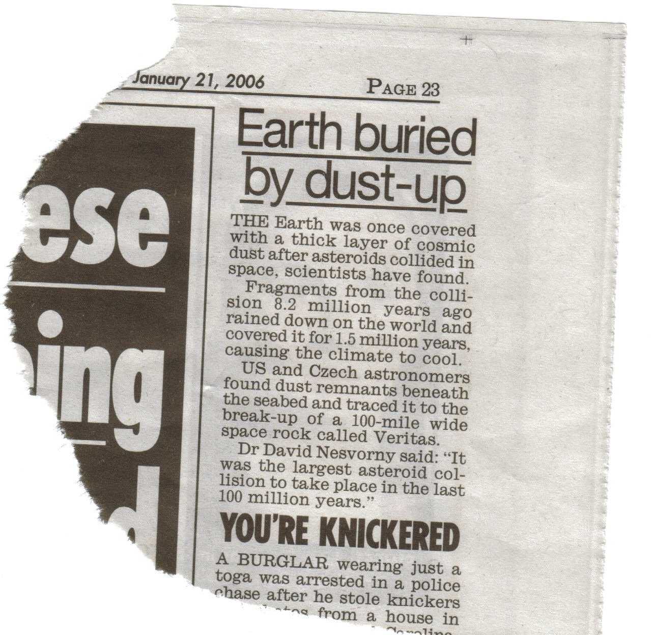 Daily Mirror report 21/01/2006